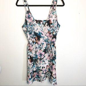 FOREVER 21 Floral Faux Wrap Dress